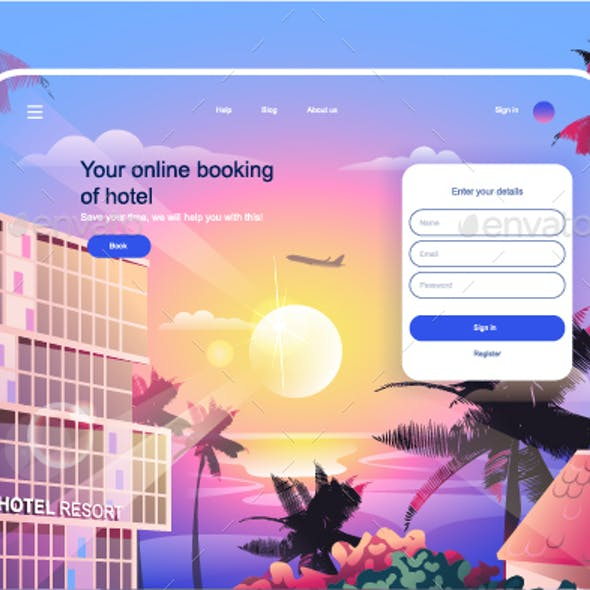 Hotel Booking Landing Page