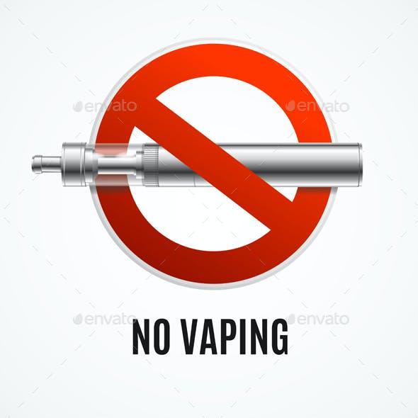 Realistic Detailed 3d No Smoking Concept. Vector