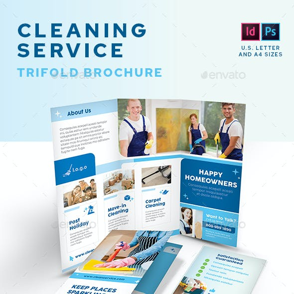 Cleaning Service Company Trifold Brochure