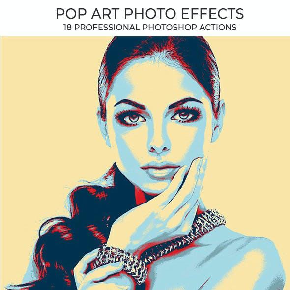 18 Pop Art Photoshop Actions - Pack