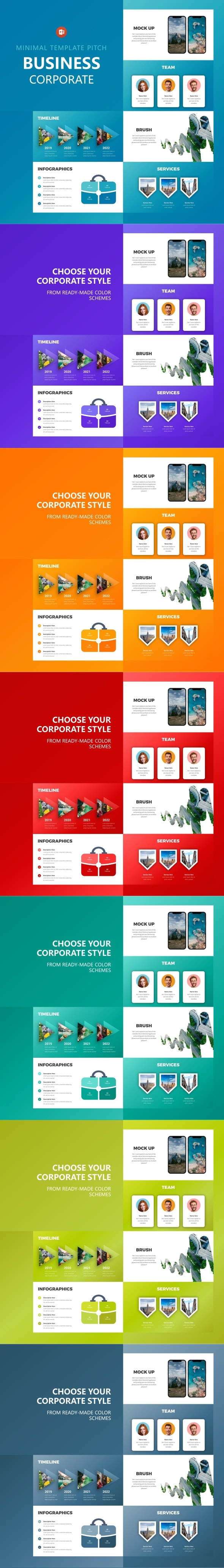 Business Corporate Powerpoint - Business PowerPoint Templates
