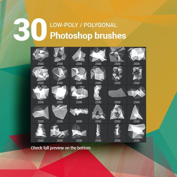 30 Low-Poly / Polygonal / Geometrical Photoshop Brushes #6
