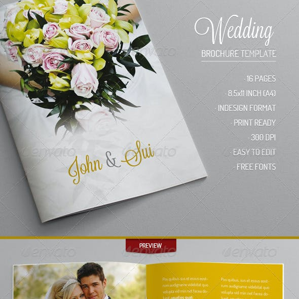 Wedding - Brochure Template