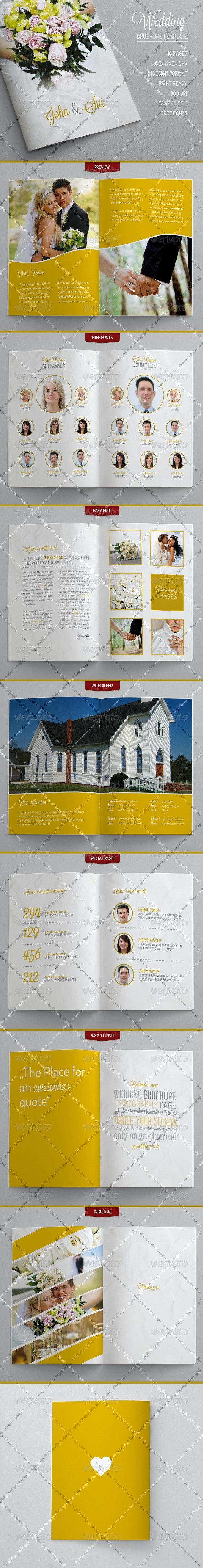 Wedding - Brochure Template - Brochures Print Templates