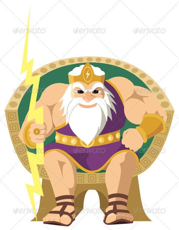 Zeus on White - Characters Vectors