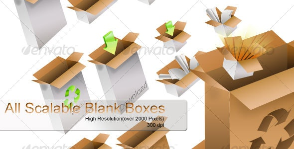 Scalable Blank Boxes - Web Icons
