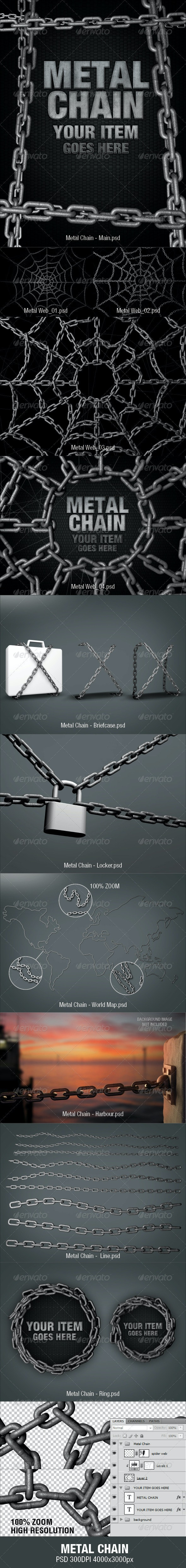 Metal Chain - Miscellaneous 3D Renders