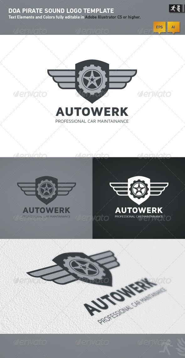 DOA Autowerk Logo Template - Crests Logo Templates