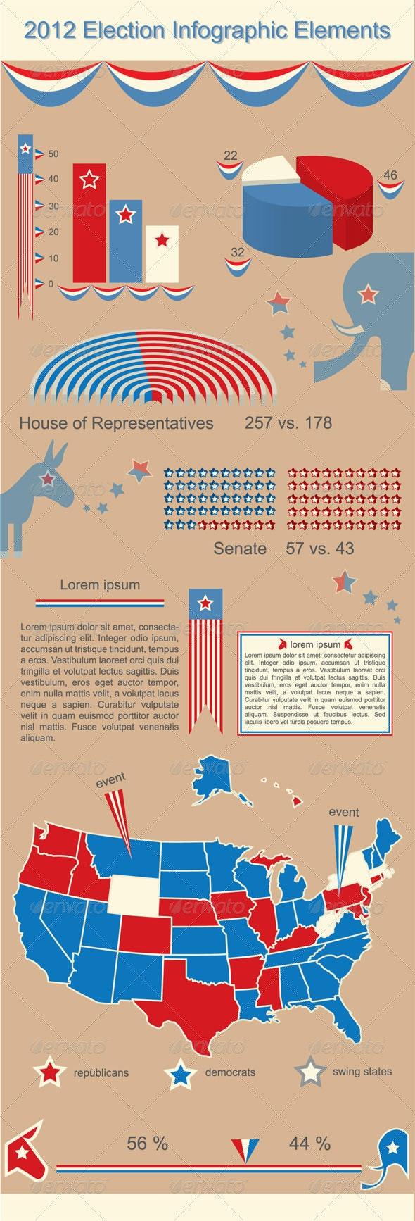 2012 Presidential Election Infographic Elements - Miscellaneous Vectors