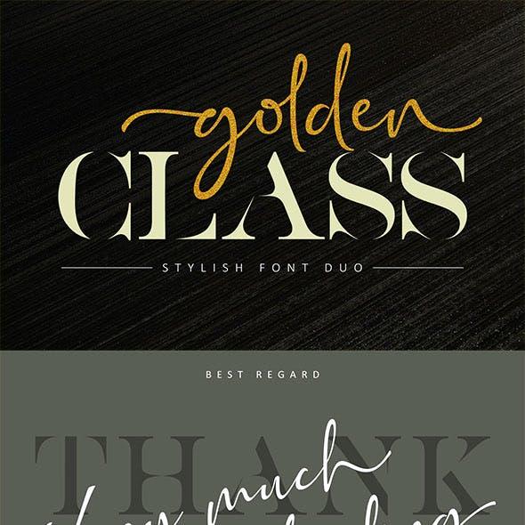 Golden Class Elegant Font Duo