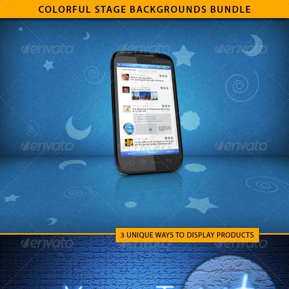 Colorful Stage Backgrounds Bundle