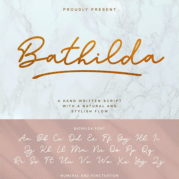 Bathilda Handwritten Script Font