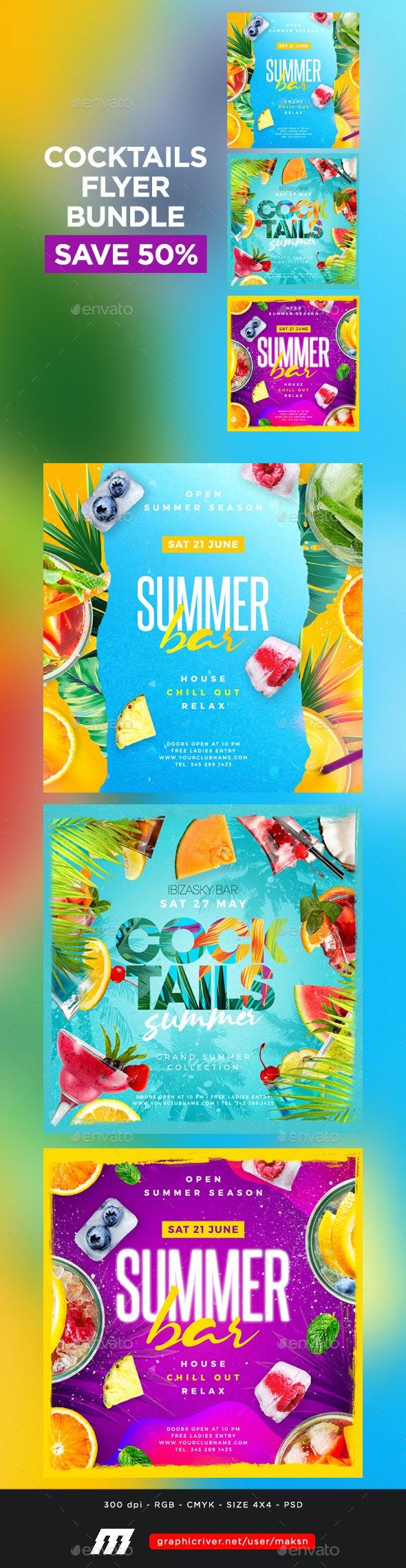 Cocktail Party Flyers Bundle - Clubs & Parties Events