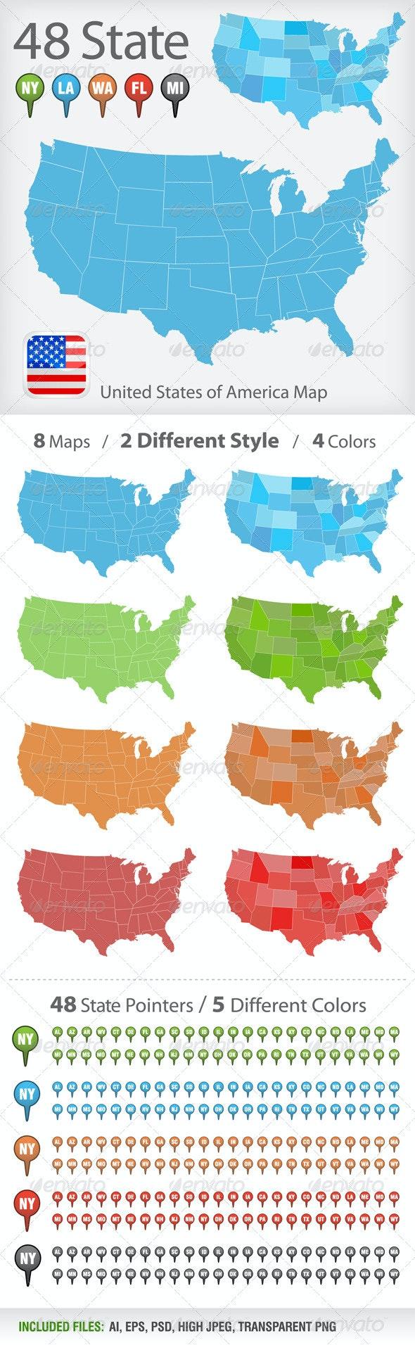 USA map vector - Miscellaneous Vectors