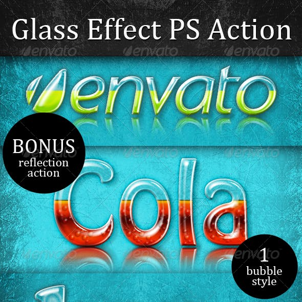 Liquid Filled Glass Effect (PSD Mockup & Action)