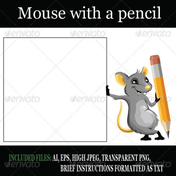 Mouse with a pencil