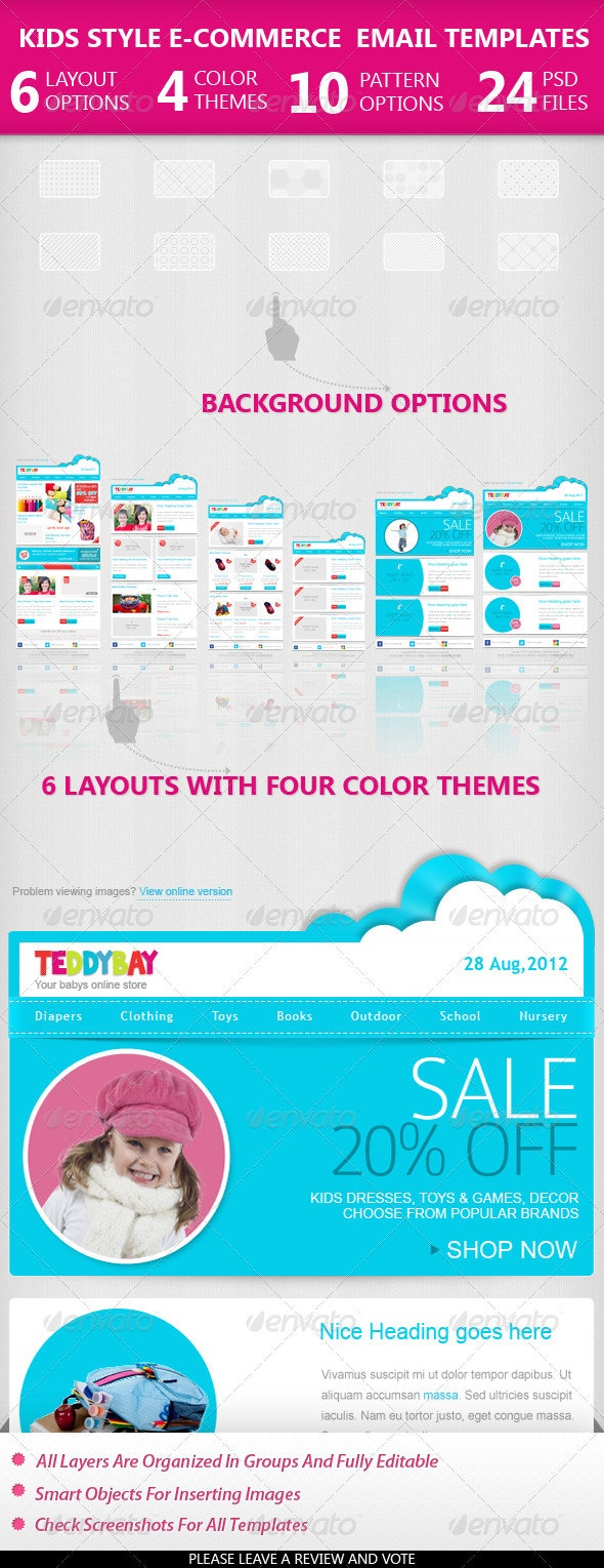 Kids Style Ecommerce Email Templates