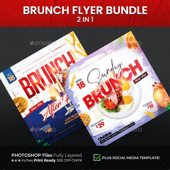 Brunch Flyer Bundle 2 in 1