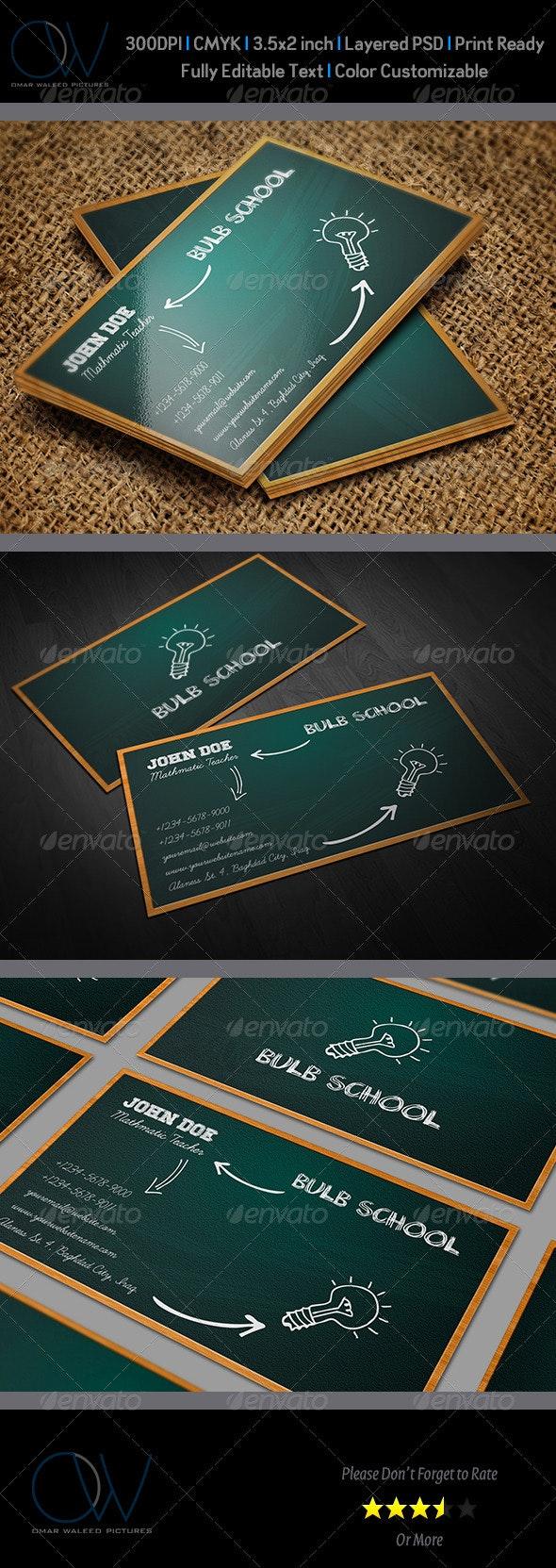 School Business Card - Creative Business Cards