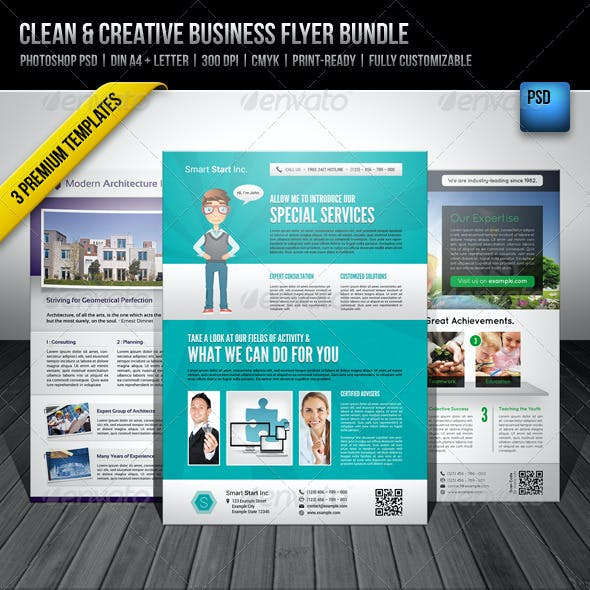 Clean & Creative Business Flyer Bundle