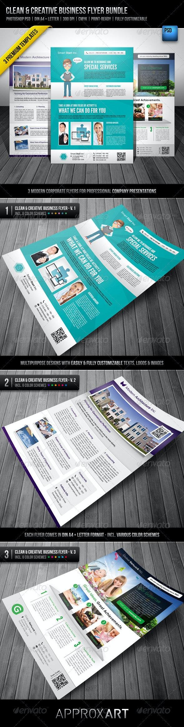 Clean & Creative Business Flyer Bundle - Corporate Flyers