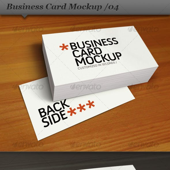 Business Card Mockup Display - Smart Template 04