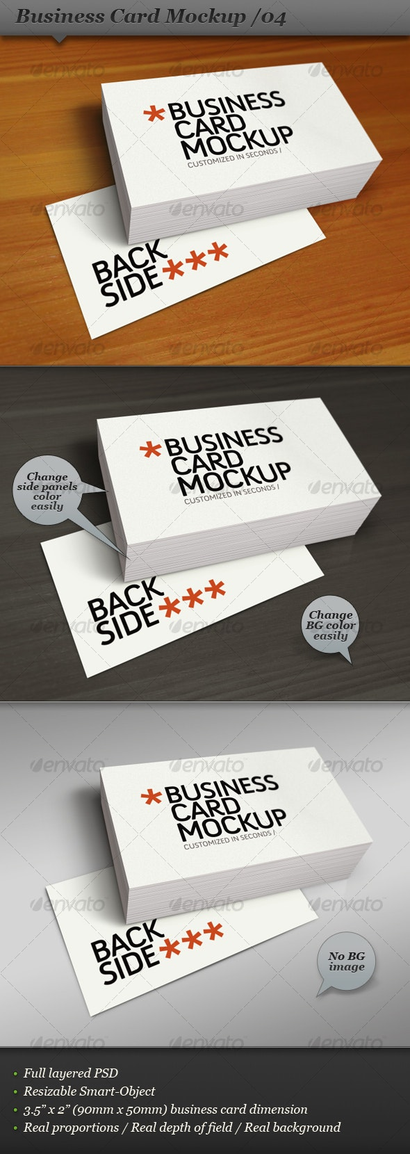 Business Card Mockup Display - Smart Template 04 - Business Cards Print
