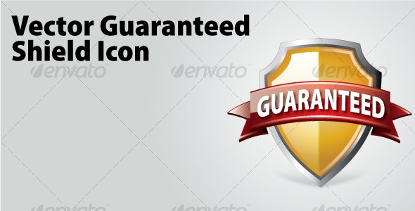 Vector Guaranteed Shield Icon - Man-made Objects Objects