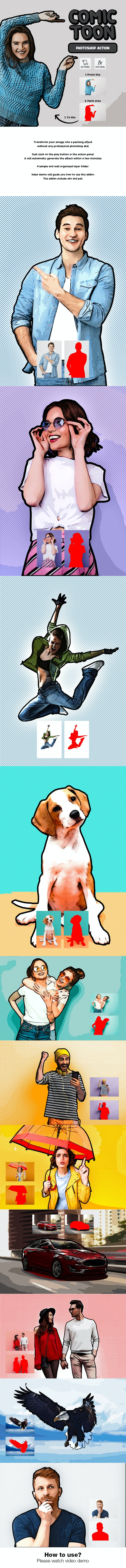 Comic Toon - Photo Effects Actions