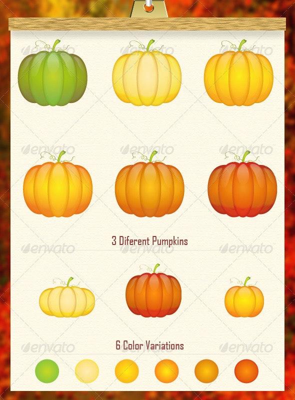 Pumpkin Vector Pack - Nature Conceptual