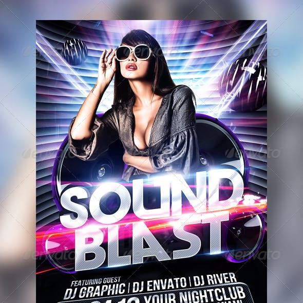 Club Sessions l Sound Blast Party Flyer