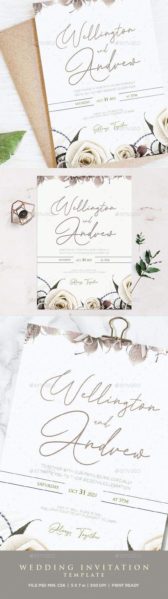 Professional Wedding Invitation Template - Weddings Cards & Invites