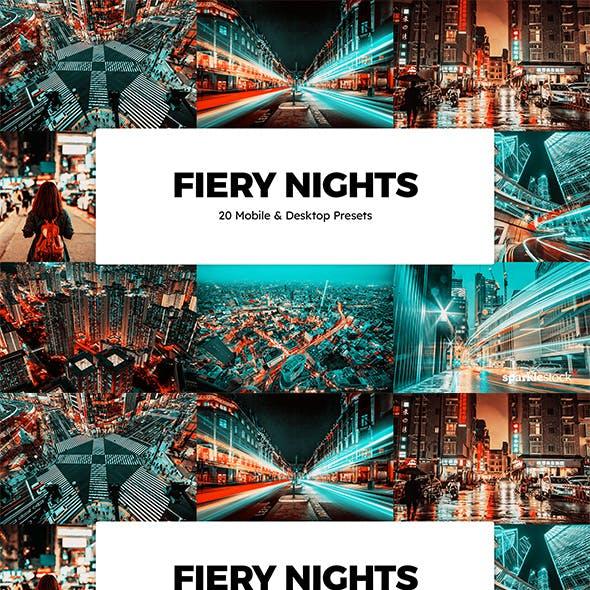 20 Fiery Nights Lightroom Presets & LUTs