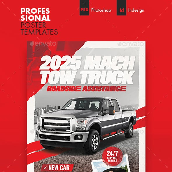 Tow Truck Poster Templates