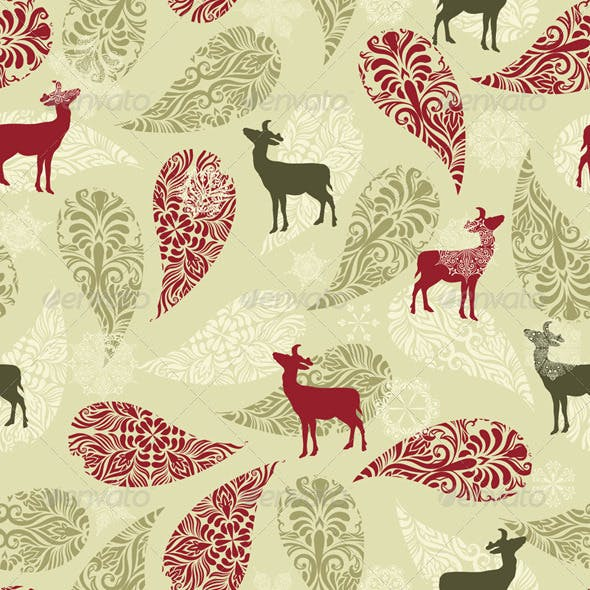 Vector Winter Seamless Pattern