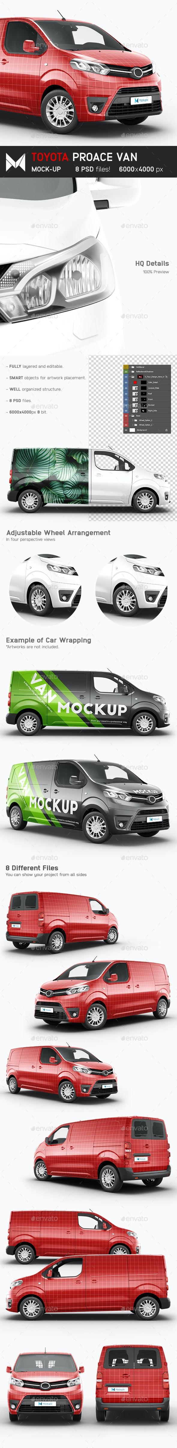 Toyota Proace Van Mockup - Vehicle Wraps Print
