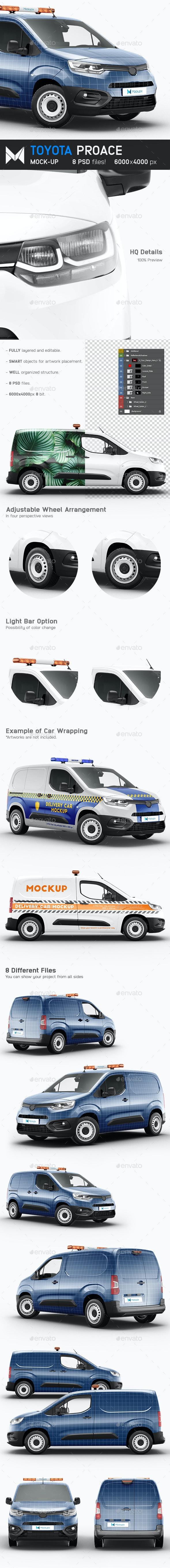 Toyota Proace Mockup - Vehicle Wraps Print