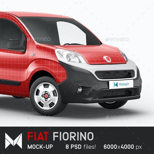Fiat Fiorino Delivery Car Mockup