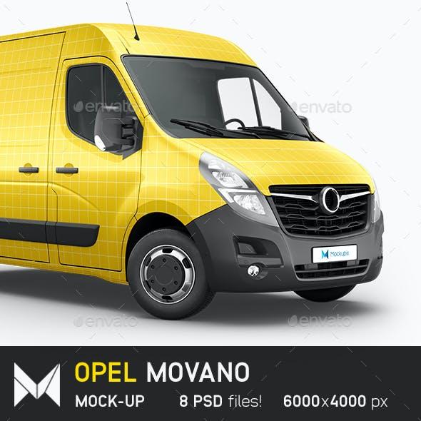 Opel Movano Van Mockup