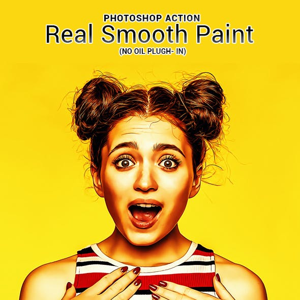 Real Smooth Paint - Photoshop Action