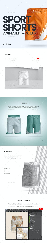 Sport Shorts Animated Mockup - Product Mock-Ups Graphics