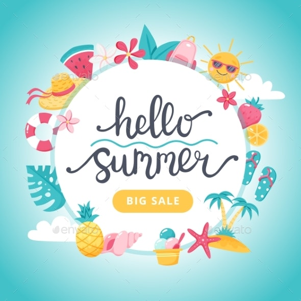 Summer Sale Banner - Miscellaneous Illustrations