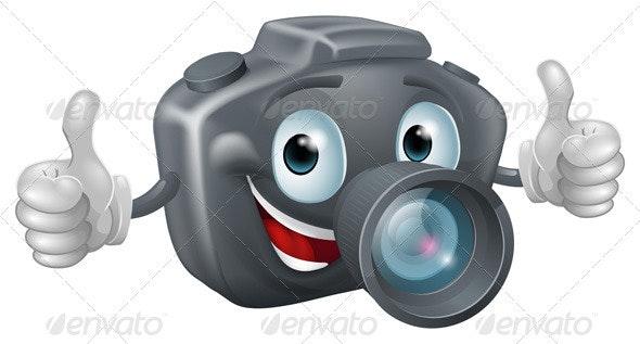 Cartoon camera mascot - Characters Vectors