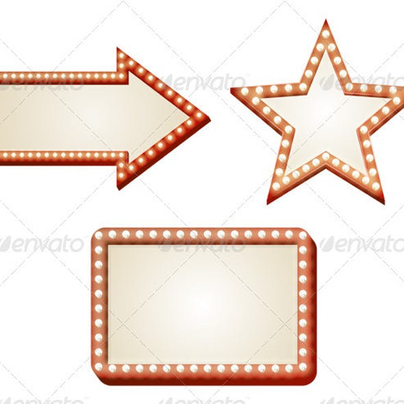 Arrow lights sign