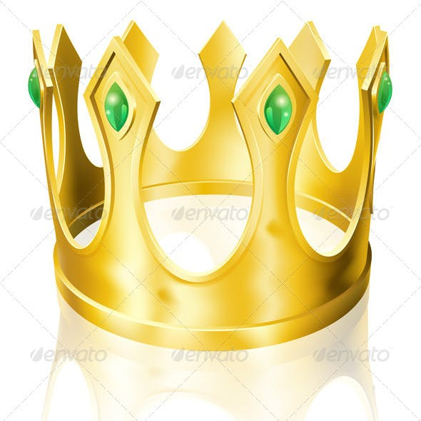 Gold crown illustration