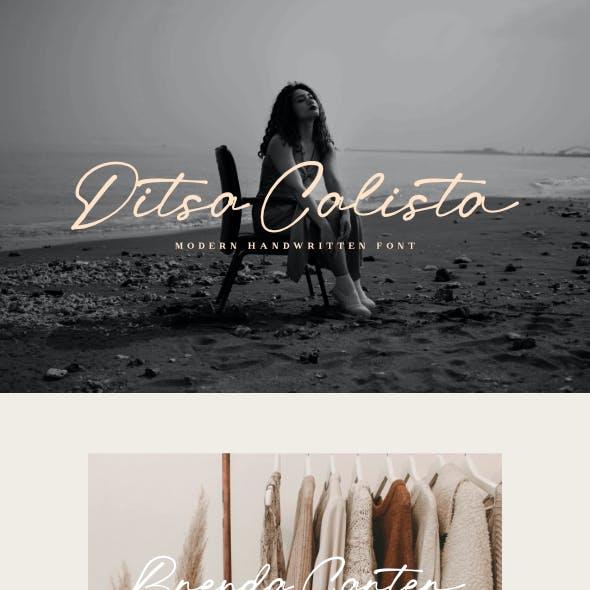 Ditsa Calista - Modern Handwritten Font