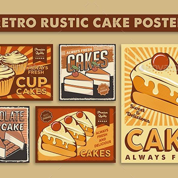 Retro Rustic Cake Poster