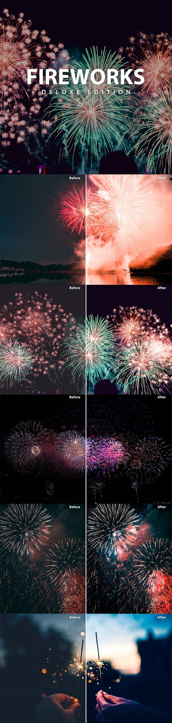 Fireworks Deluxe Edition   for Mobile and Desktop - Lightroom Presets Add-ons