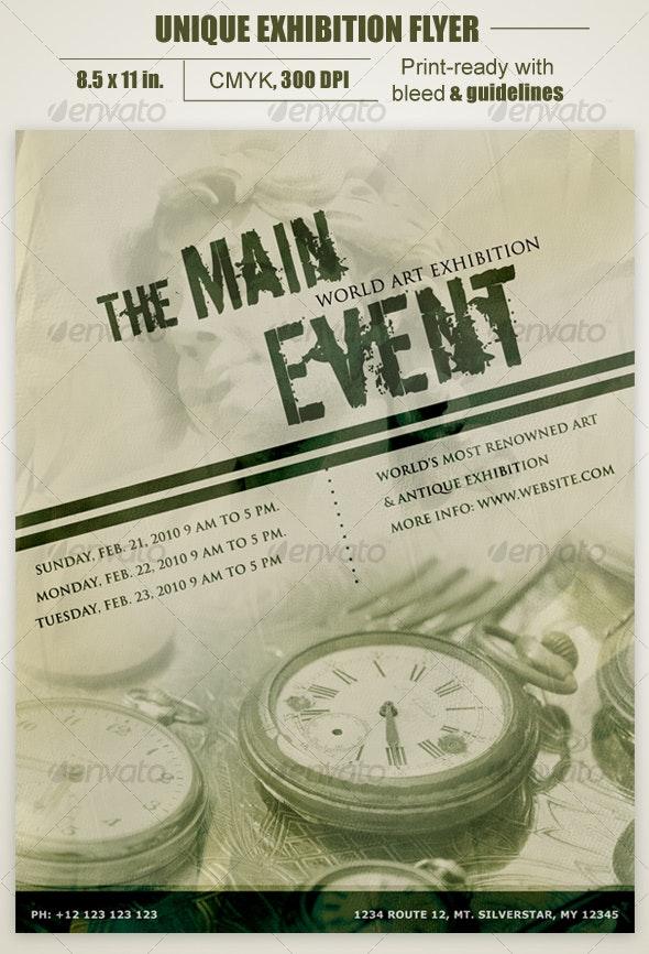 Unique Exhibition Flyer - Clubs & Parties Events