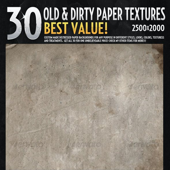 30 Hires Textures-Ultimate Old Paper Texture Pack